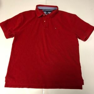 Tommy Hilfiger Mens Red Polo Rugby ShortSleeve XXL